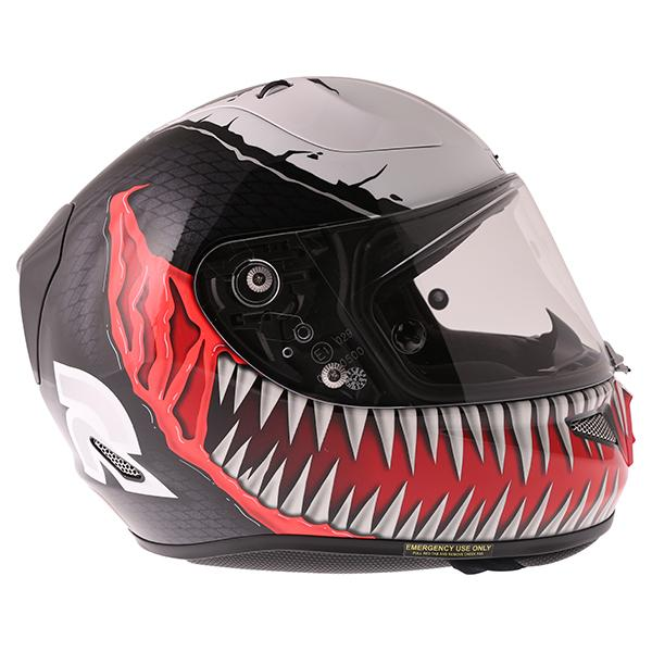 hjc rpha 11 venom marvel helmet motorcycle motorbike full face race racing j s ebay. Black Bedroom Furniture Sets. Home Design Ideas