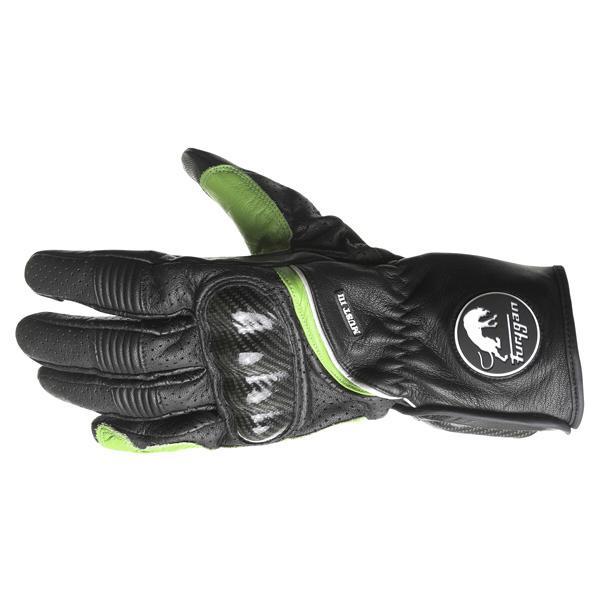 FURYGAN JAMES D30 CE Armour Black Leather Motorcycle//Cruiser//Retro Short Gloves
