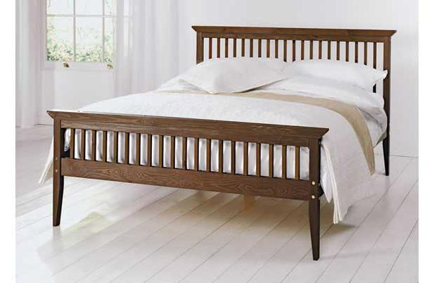 Double Bed Solid Wood Shaker With Luxury Mattress White