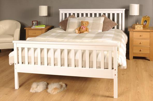 Atlantis Bed Chocolate, White, Pine, 5ft King, 4ft6 Double & 3ft ...