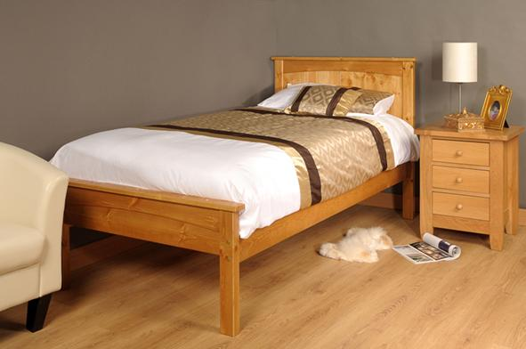 3ft single 4ft6 double 5ft king size caramel white wooden for Sofa bed 5ft
