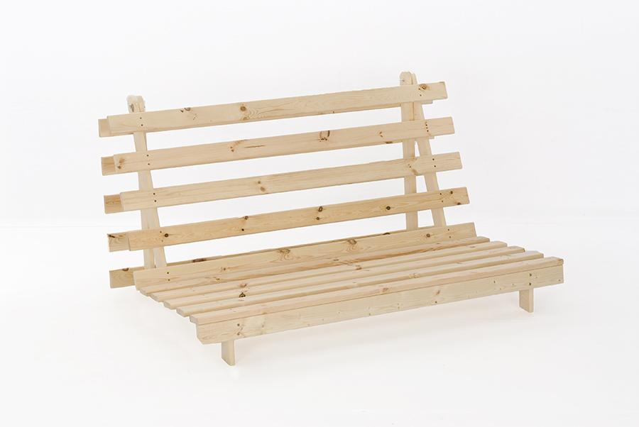 Wooden Futon Sofa Bed Frame Single or Double - 2ft6, 3ft, 4ft & 4ft6 ...