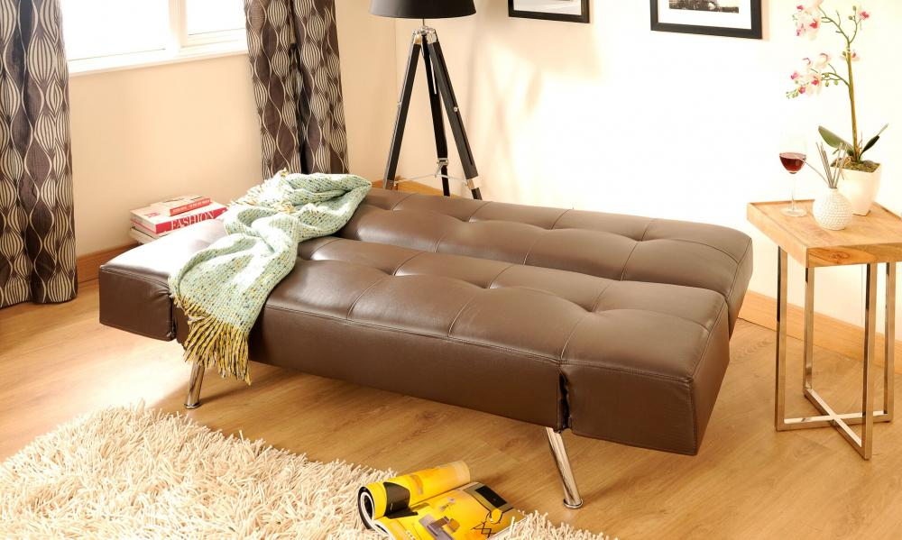 Admirable Details About Faux Leather Sofa Bed Modern 2 3 Seater With Adjustable Arms In Black Or Brown Beatyapartments Chair Design Images Beatyapartmentscom
