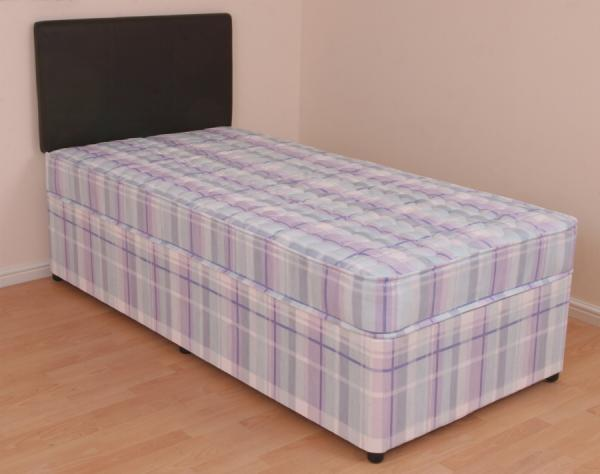 Single divan bed 3ft orthopaedic mattress melissa slide for Divan bed with drawers