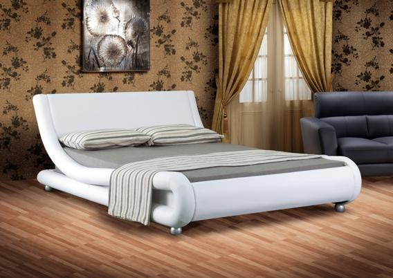 italian designer faux leather double or king black white chocolate bed frame ebay. Black Bedroom Furniture Sets. Home Design Ideas