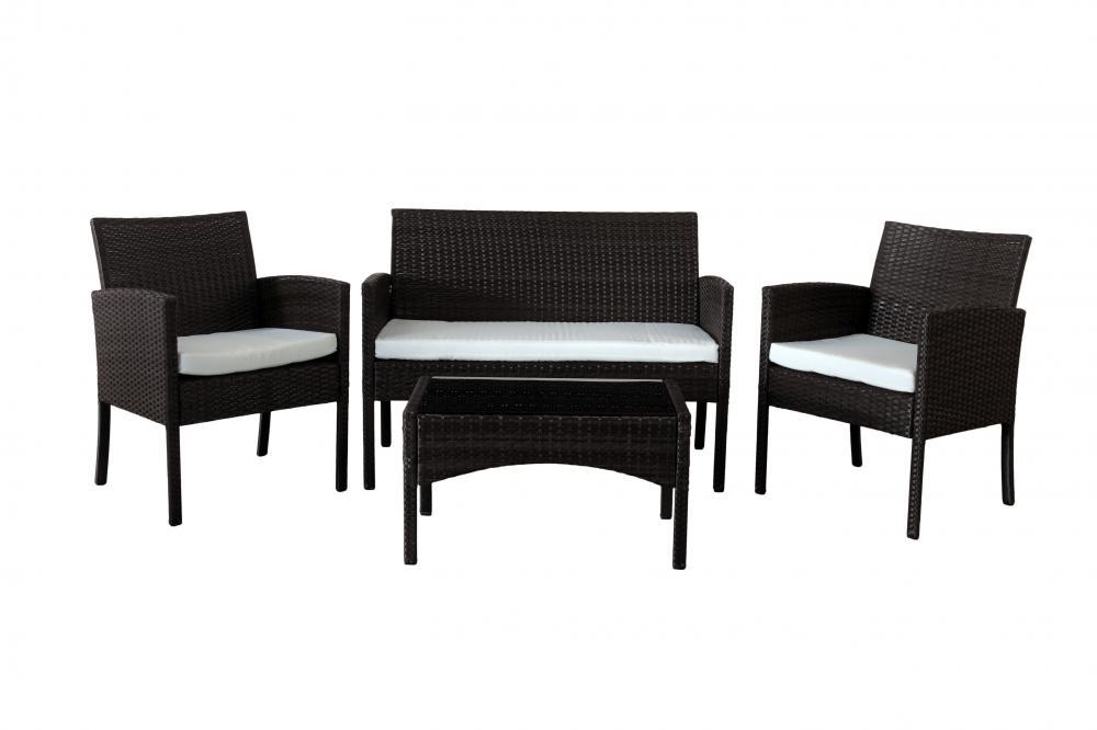 Rattan Garden Furniture Set 4 Piece Chairs Sofa Table