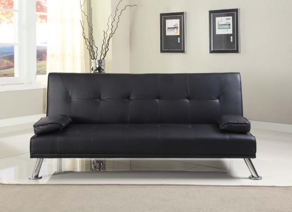 Stunning Faux Leather Italian Designer Style Sofa Bed With