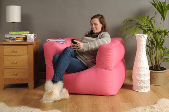 Bean Bag Arm Chair in 10 Bright Colours Armchair Sofa ...