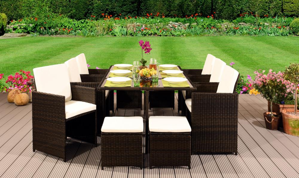 Cube Rattan Garden Furniture Set Chair Sofa Table Outdoor