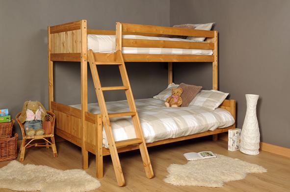 3ft 4ft Triple Wooden Bunk Bed Kids Pine White Amp Mattress