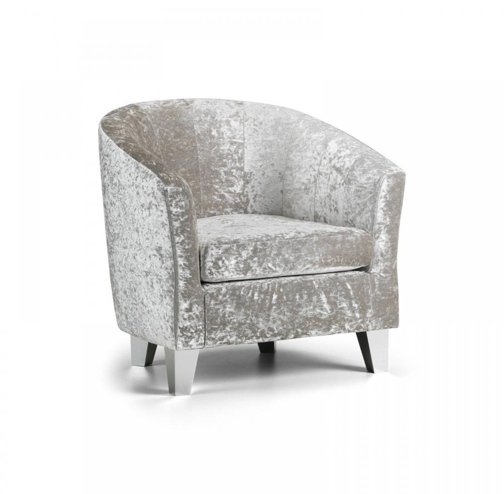 Modern Crushed Velvet Tub Chair Armchair Bedroom Living