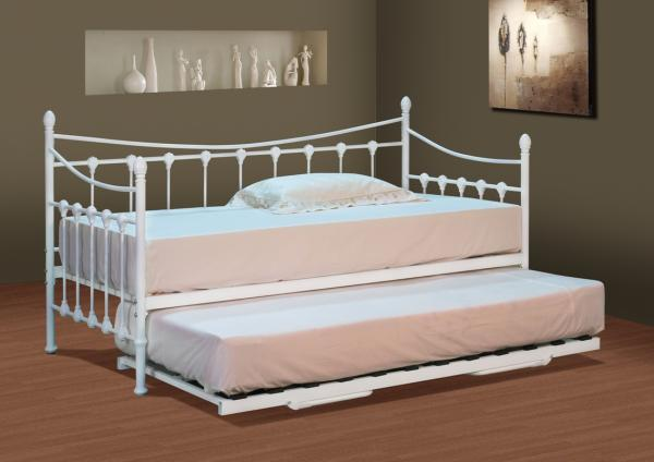 Stunning White Metal Day Bed With Or Without Trundle And Mattress Options Ebay