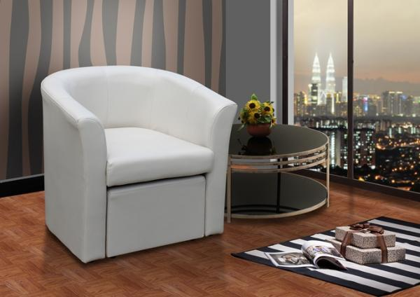 stylish faux leather tub chair with matching footstool home office