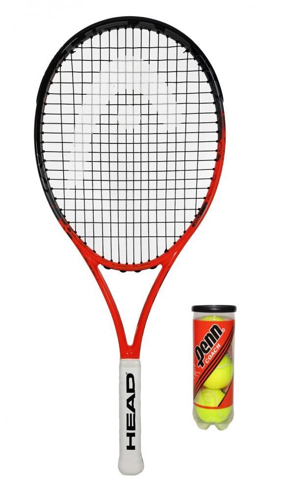 3 Tennis Balls RRP £90 Head YouTek IG Radical 26 Graphite Junior Tennis Racket