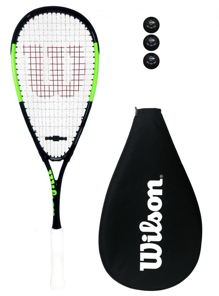 Wilson Blade Team Squash Racket 3 Squash Balls Cover