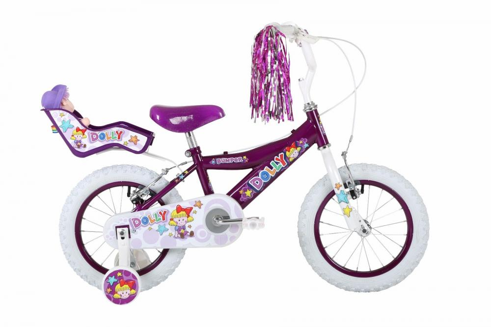 Bumper Childrens Kids Cycle Bike Dolly Seat Front Pink Basket Streamers
