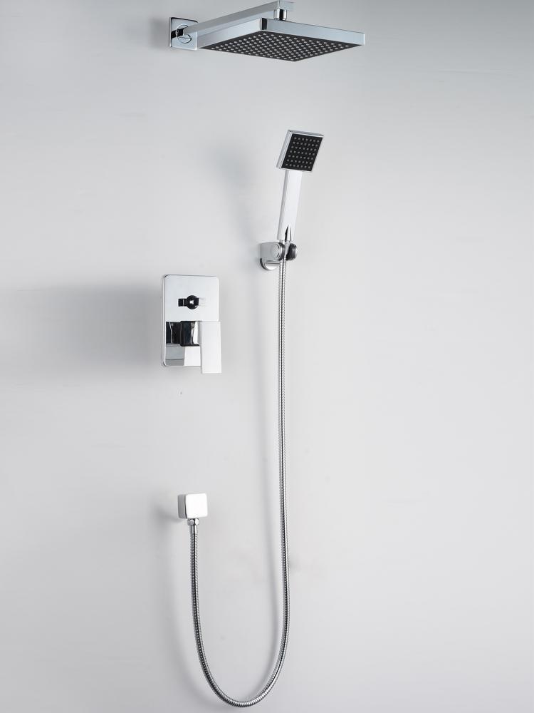 New Bathroom Shower Head Arm Control Valve Hand Spray Shower Faucet Set S88