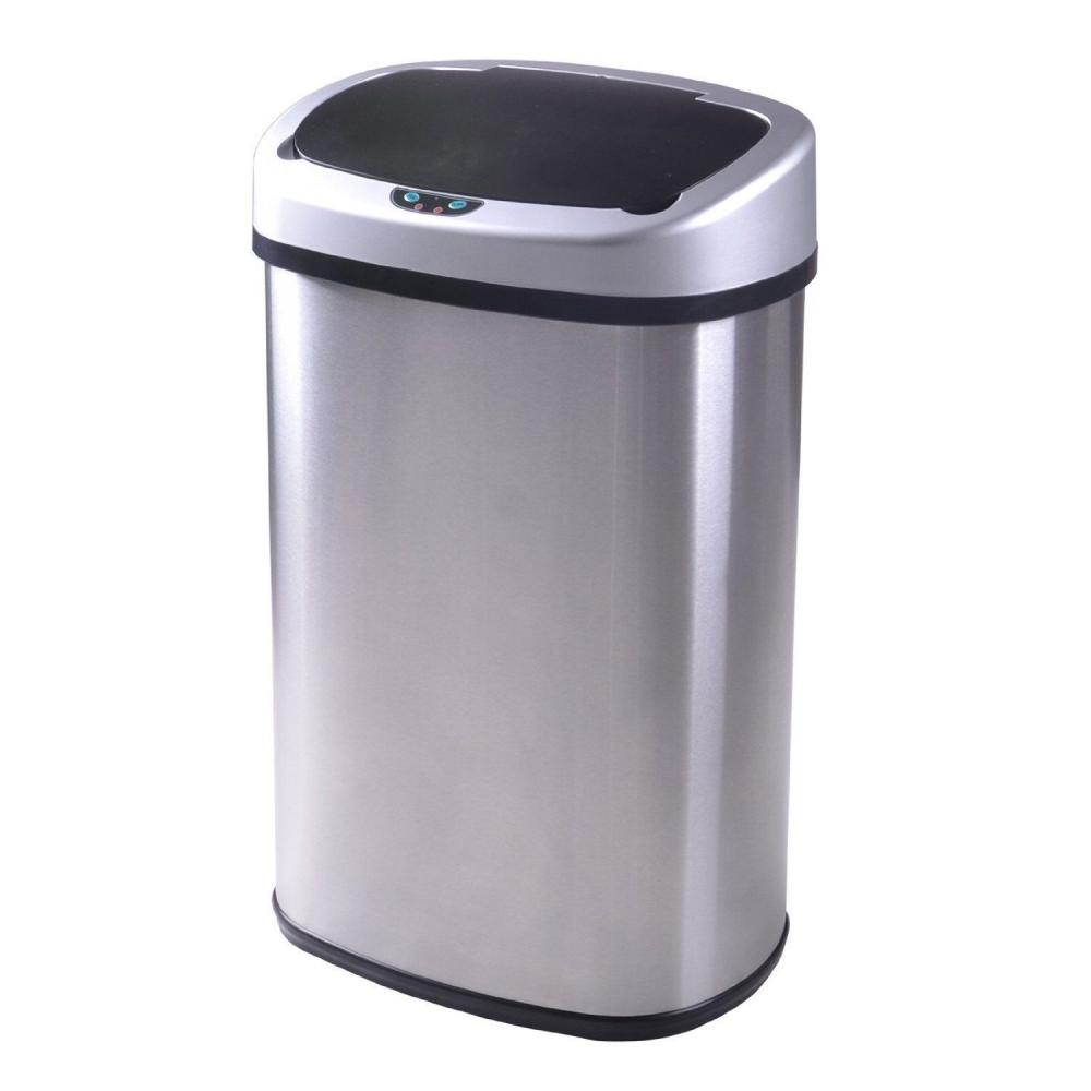 Details about New 13-Gallon Touch Free Sensor Automatic Touchless Trash Can  Kitchen Office