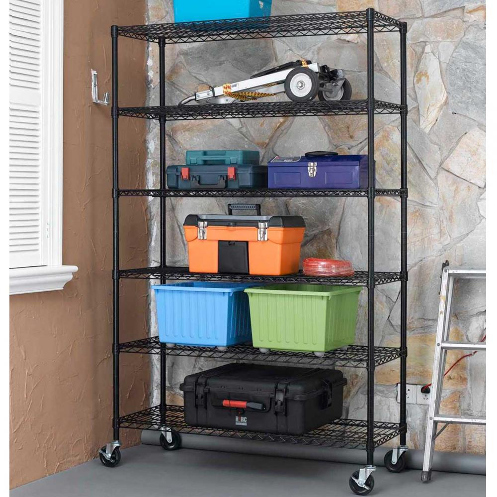 New 6 Tier Wire Shelving Unit Nsf Metal Shelf Rack 2100
