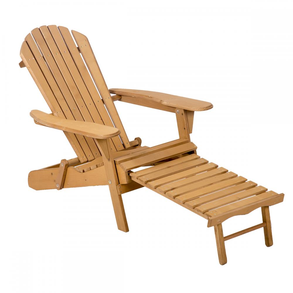 outdoor wood adirondack chair foldable w pull out ottoman patio furniture 240