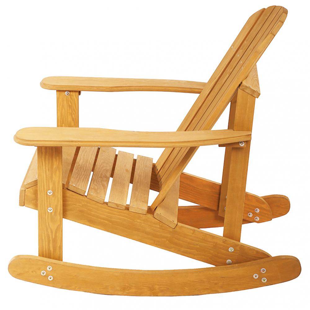New Garden Rocking Rest Adirondack Wood Chair,Furniture Lawn Patio Deck Seat