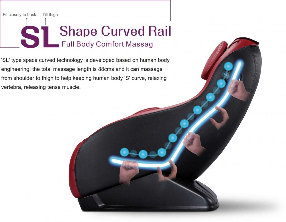 bestmassage curved video gaming massage chair wireless bluetooth audio long rail ebay
