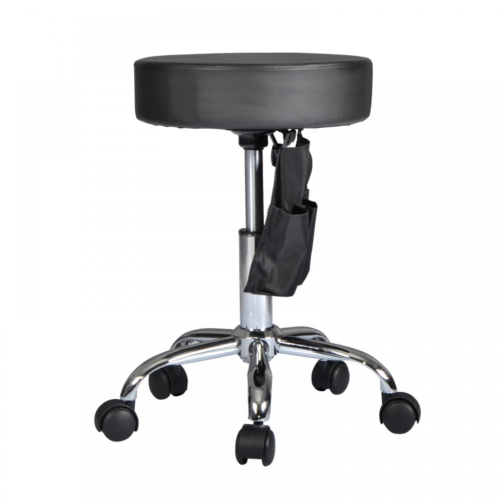 Black Adjustable Hydraulic Rolling Swivel Stool Tattoo