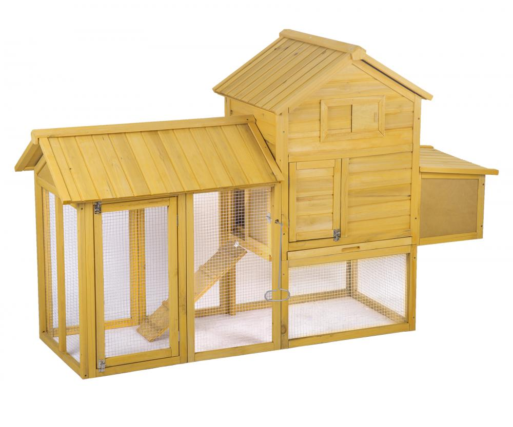 83 u0027 u0027 wooden chicken coop backyard nest box hen house rabbit wood