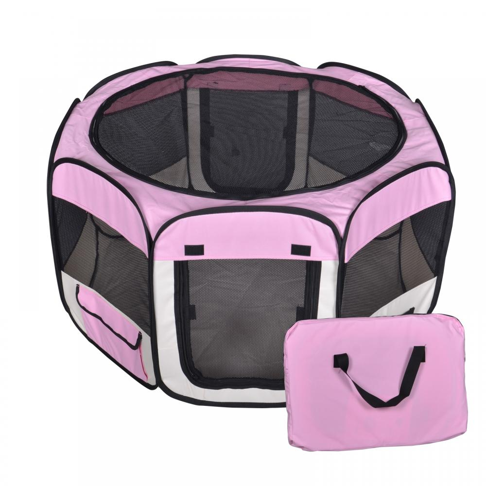 Charming New Small Pet Dog Cat Tent Playpen Exercise Play Pen Soft Crate T08S Pink
