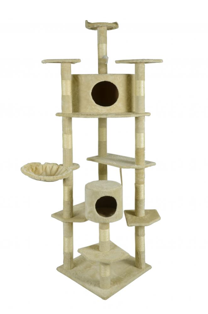 New Beige 80 Quot Cat Tree Condo Furniture Scratching Post Pet