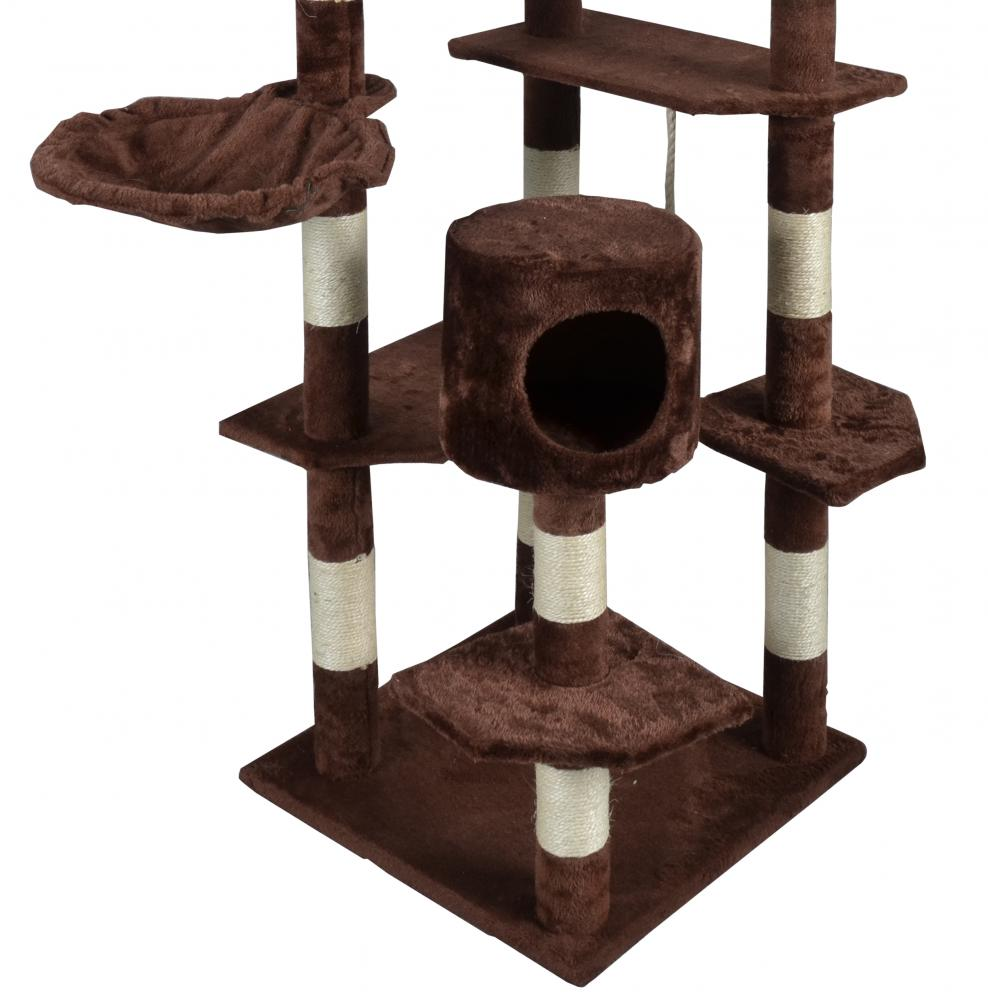 New Brown 80 Quot Cat Tree Condo Furniture Scratching Post Pet