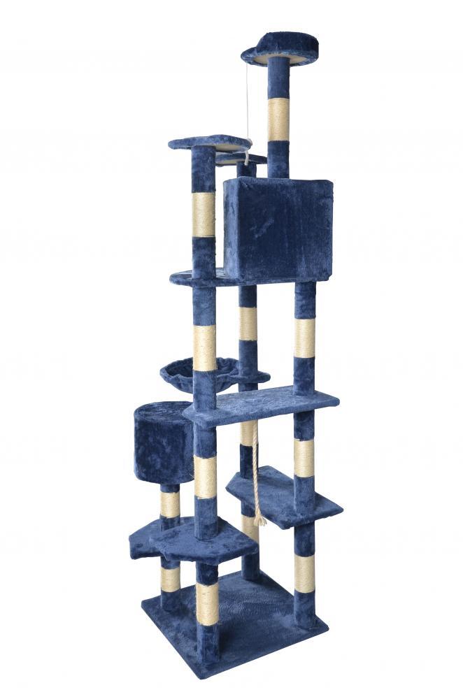 80 Quot Navy Blue Cat Tree Condo Furniture Scratching Post Pet