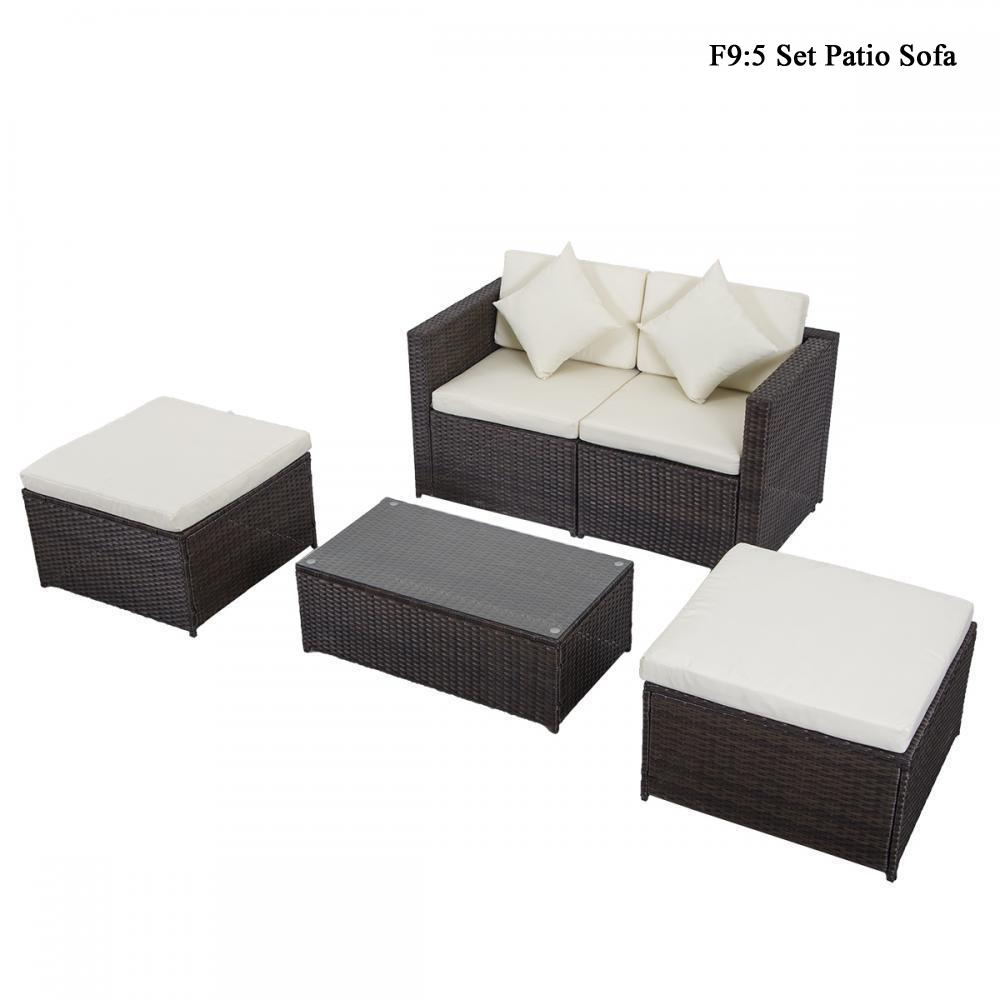Diy Outdoor Patio Sofa Sectional Furniture Pe Wicker