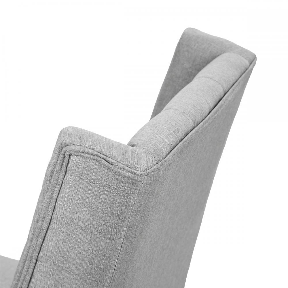 Set Of 2 Grey Elegant Dining Side Chairs Button Tufted Fabric W Nailhead 8fh 695975348617 Ebay