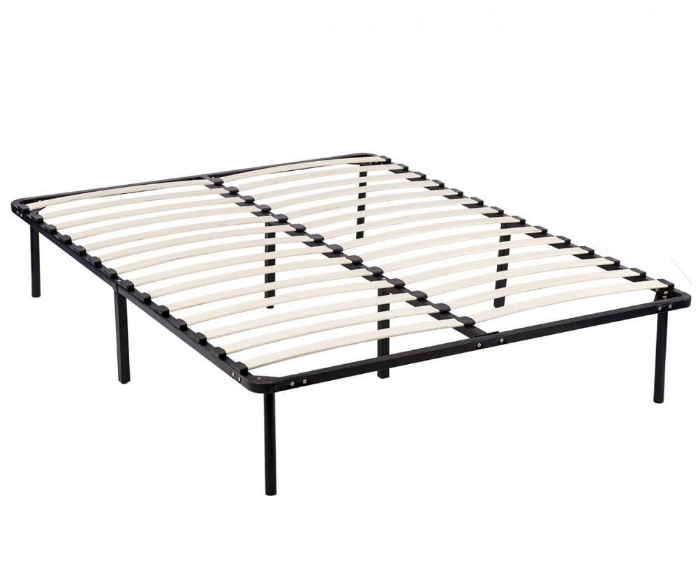 metal platform bed frame. New Wood Slats Metal Platform Bed Frame Mattress Foundation Bedroom Rounded Edge