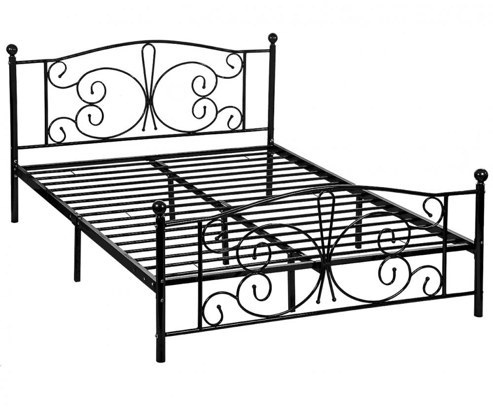 New Metal Platform Bed Frame with Headboard and Footboard Twin Full ...