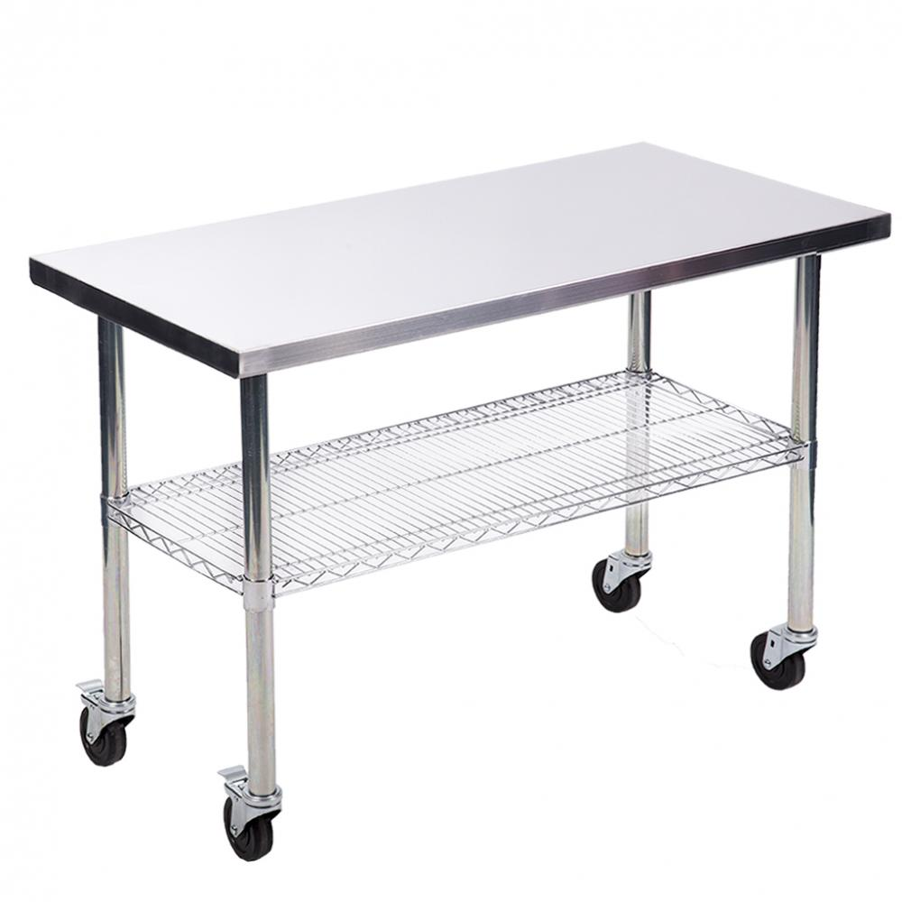 24 Quot X48 Quot Stainless Steel Kitchen Work Table W Wire Lower