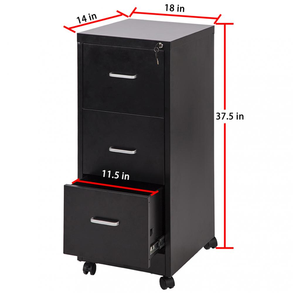 New 3 Drawer Letter File Full Suspension 18 Quot Wide Filing