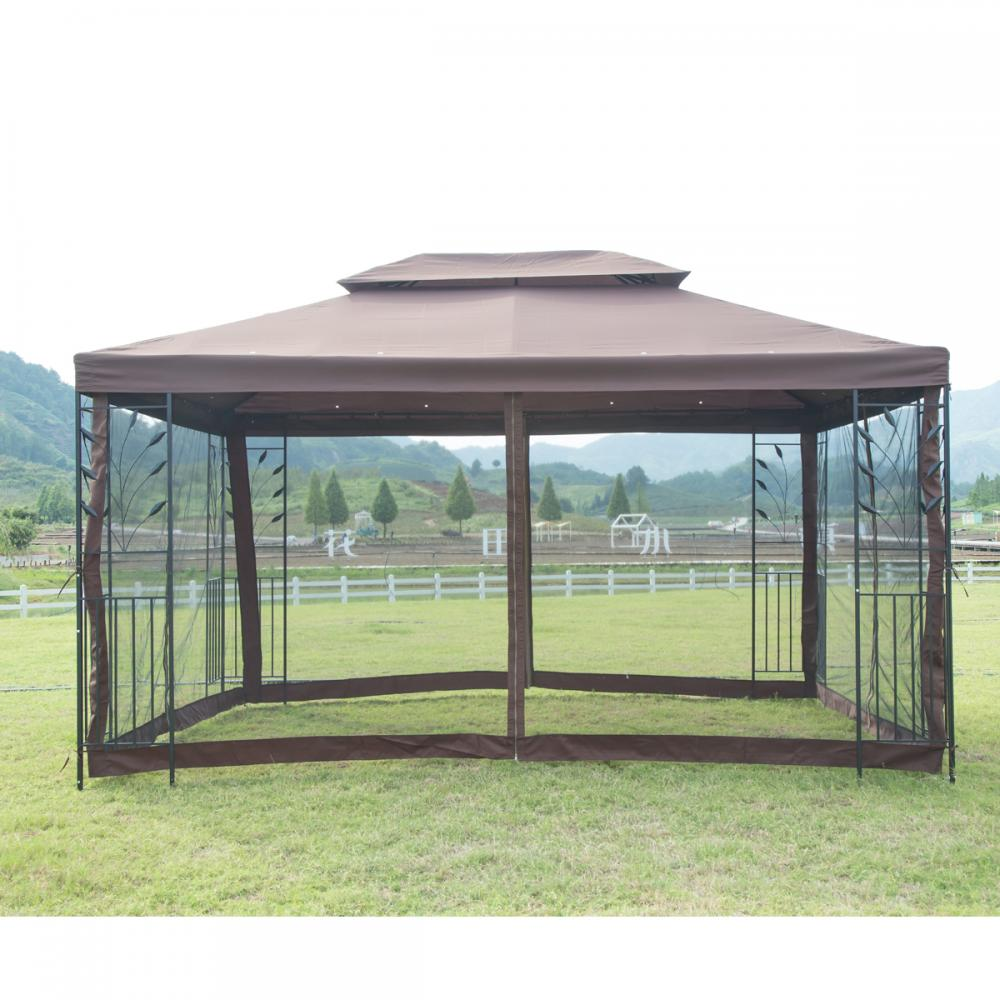 New 10 X 10 Outdoor Gazebo Steel Frame Vented Garden