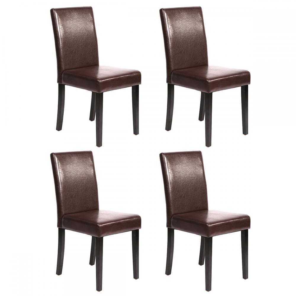 Set Of 2 Kitchen Dinette Dining Room Chair Elegant Design: Set Of 2/4/6/8/10 Pcs Black/Brown Leather Elegant Design