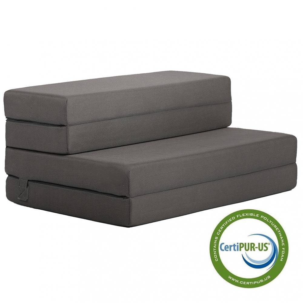 New 4 Quot Folding Portable Mattress Sofa Bed For Guests With