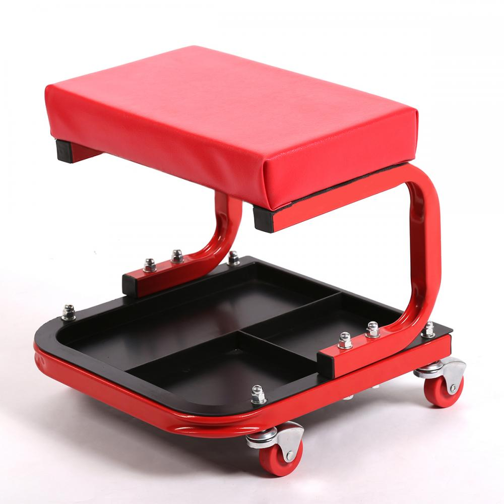 Rolling Mechanic Seat Stool Chair Tray Repair Tools Shop