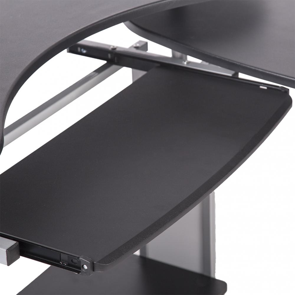 L Shaped Corner Computer Office Desk Workstation Table For