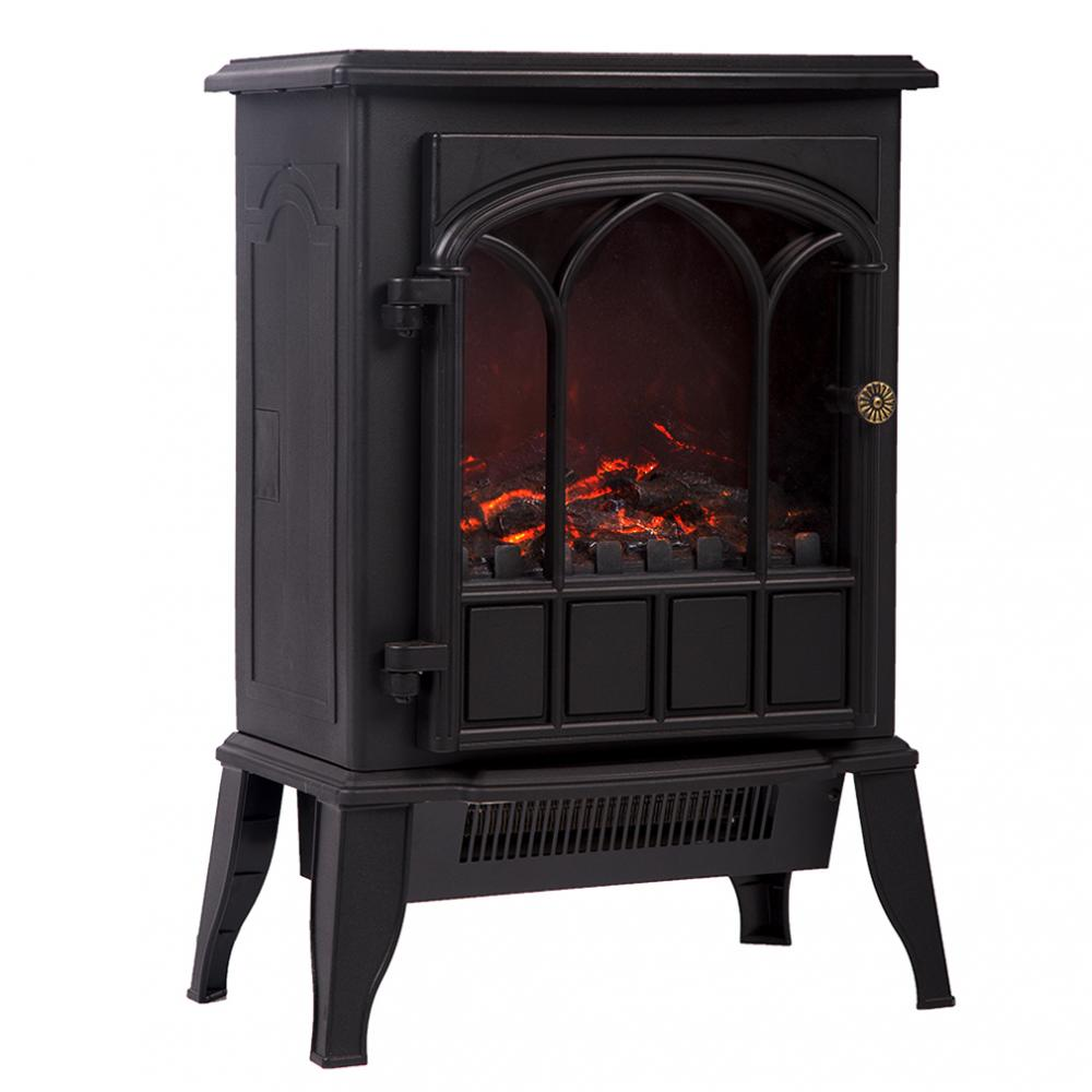 new 750w 1500w standing electric fireplace heater log flame stove portable fp22 848837024048 ebay. Black Bedroom Furniture Sets. Home Design Ideas