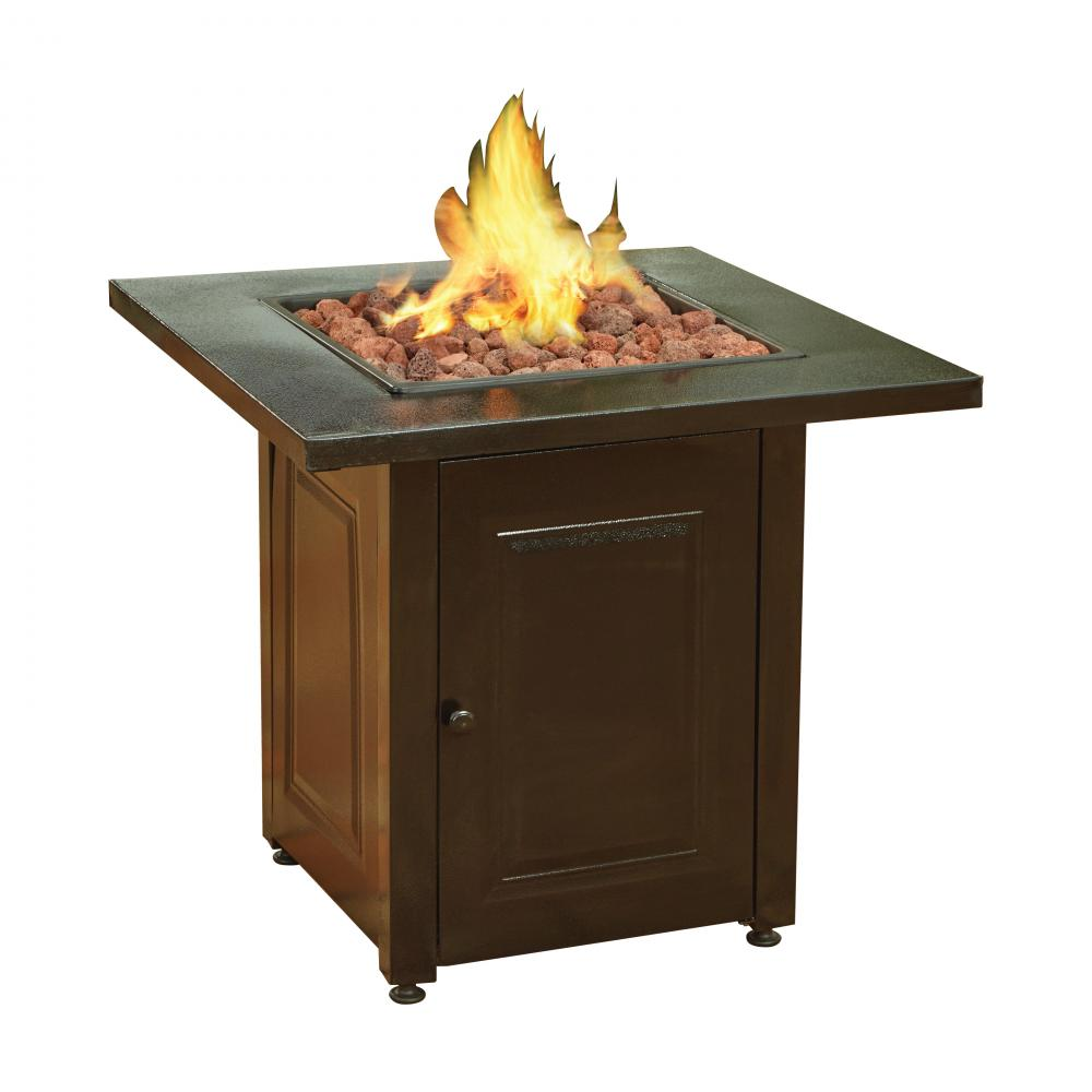 Incroyable Propane Fire Pit Patio Heaters Antique Hammered Bronze Finish Outdoor Gas  Table