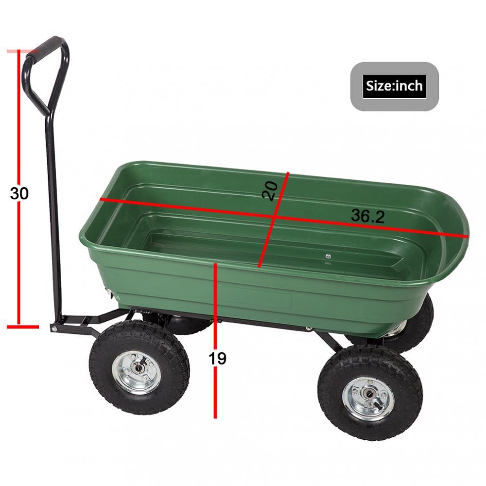 Heavy Duty Poly Garden Utility Yard Dump Cart Garden Cart