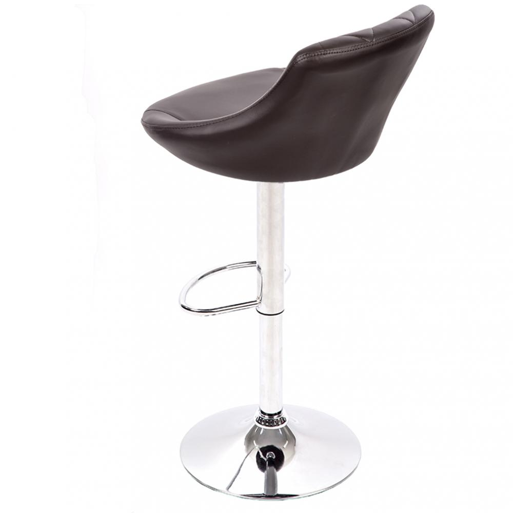 Bar Stool Adjustable Height Leather Bar Stools With Seat Back Pad B52