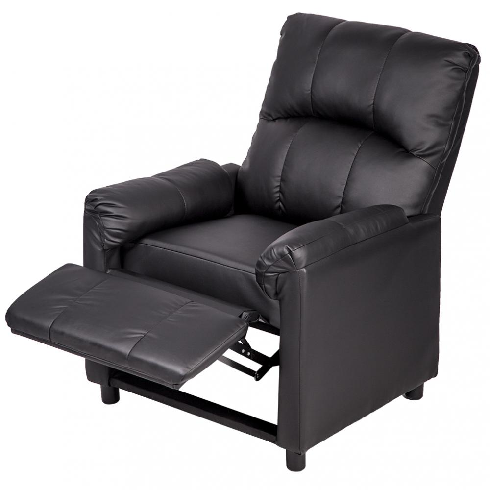Exceptional Leather Single Arm Recliner Chair Sofa Reclining Couch PU96