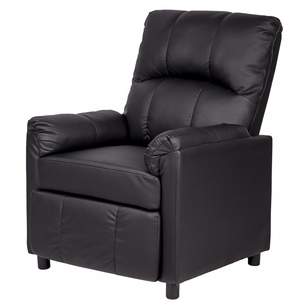 Leather Single Arm Recliner Chair Sofa Reclining Couch PU96