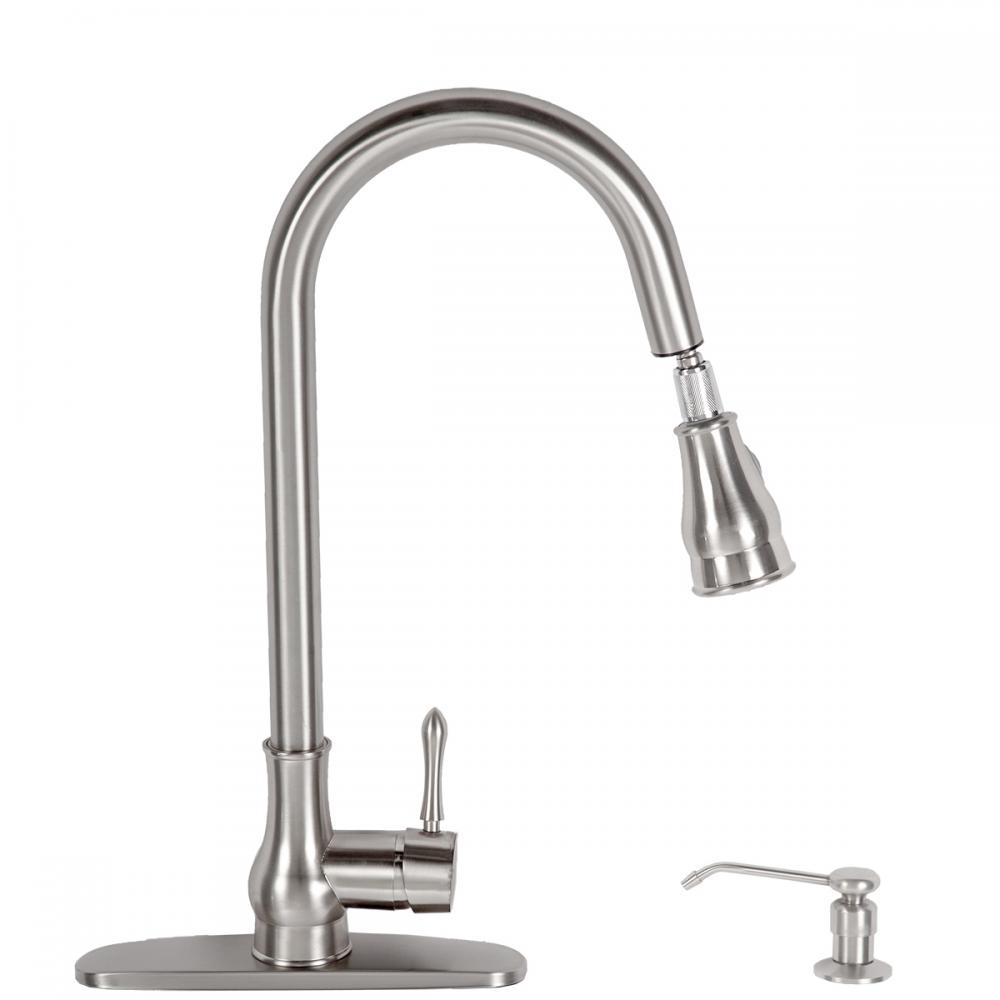 Kitchen Faucet Swivel Pull Out Faucet Single Handle Spout Basin Sink Mixer Spray Ebay